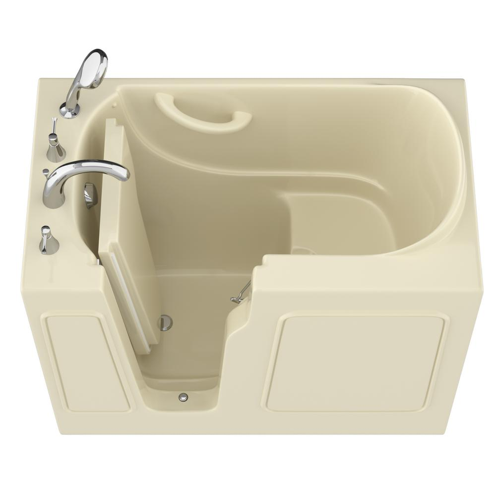 Universal Tubs HD Series 26 in. x 46 in. Left Drain Quick Fill Walk-In Soaking Bathtub in Biscuit