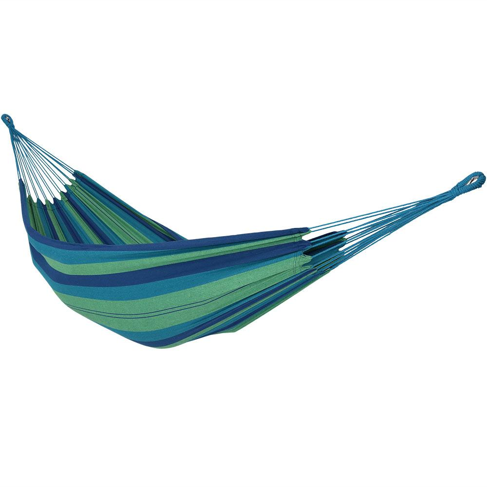 10.5 ft. Fabric Cotton Double Brazilian Hammock in Beach Oasis