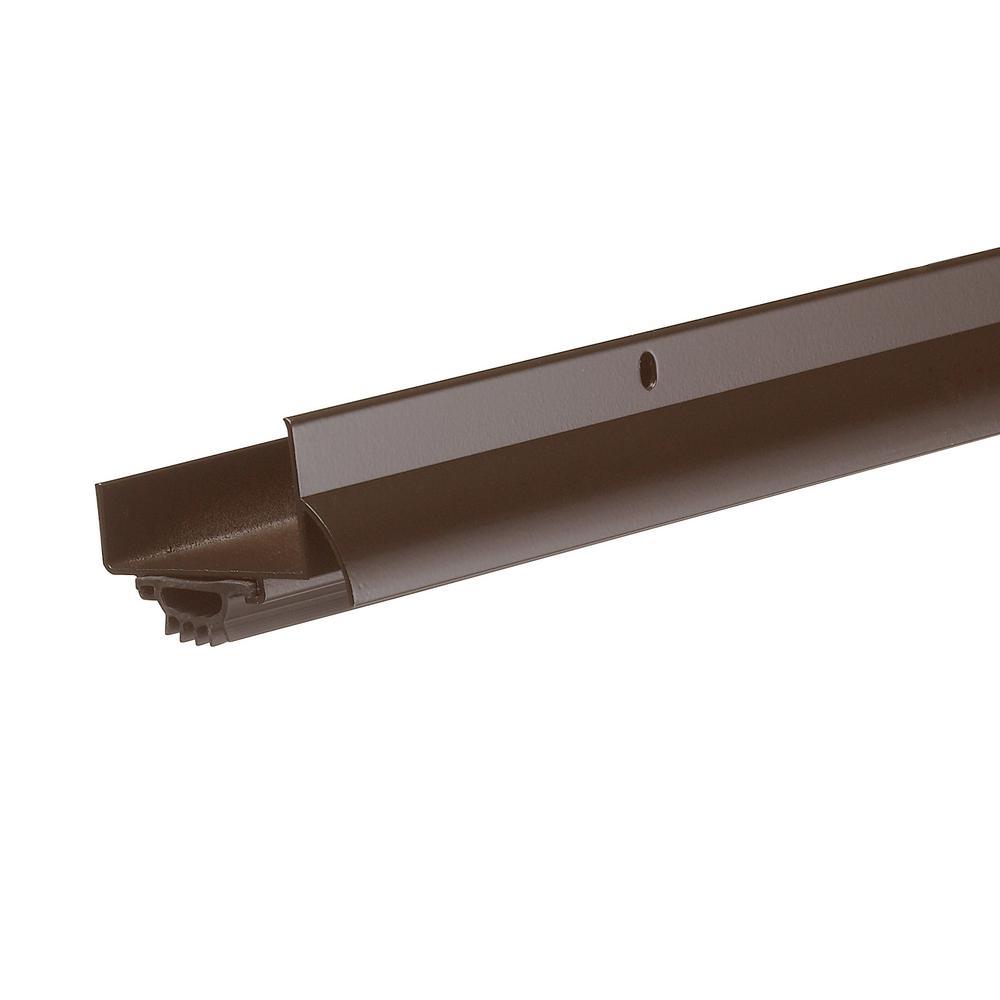 E/O 1-3/4 in. x 36 in. Brown U-Shape Door-Bottom Sweep with Drip Cap