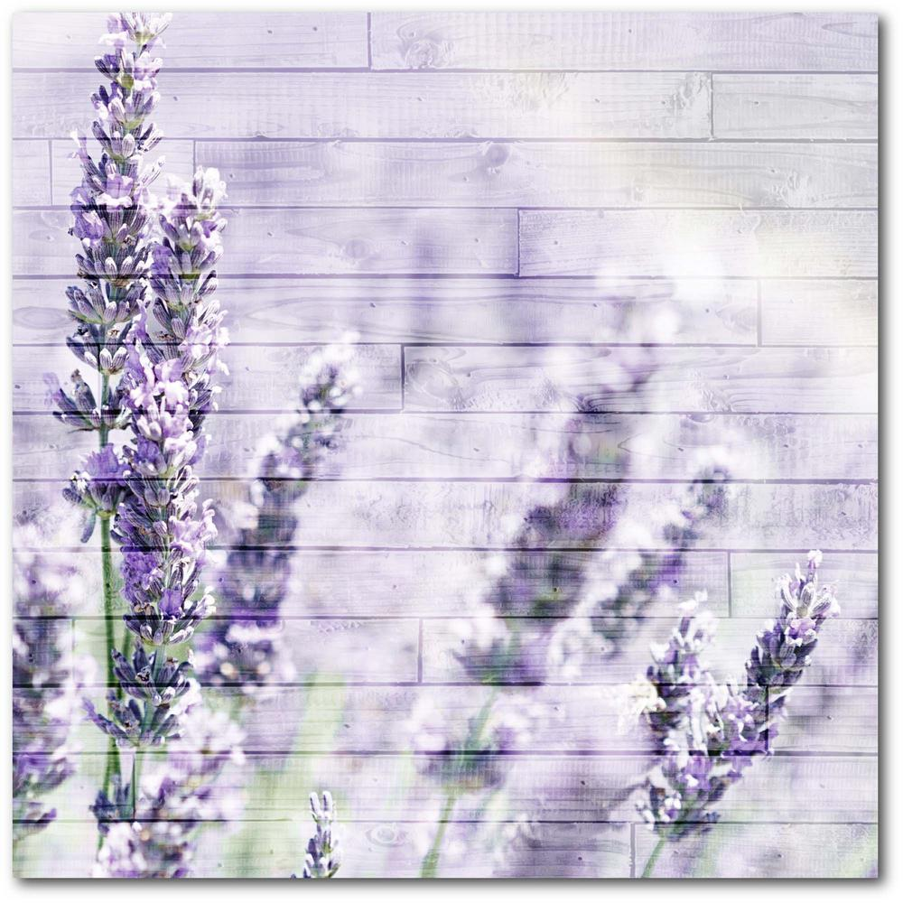 Courtside Market Lavender Fields Gallery-Wrapped Canvas Nature Wall Art 24 in. x 24 in., Multi Color was $115.0 now $64.03 (44.0% off)