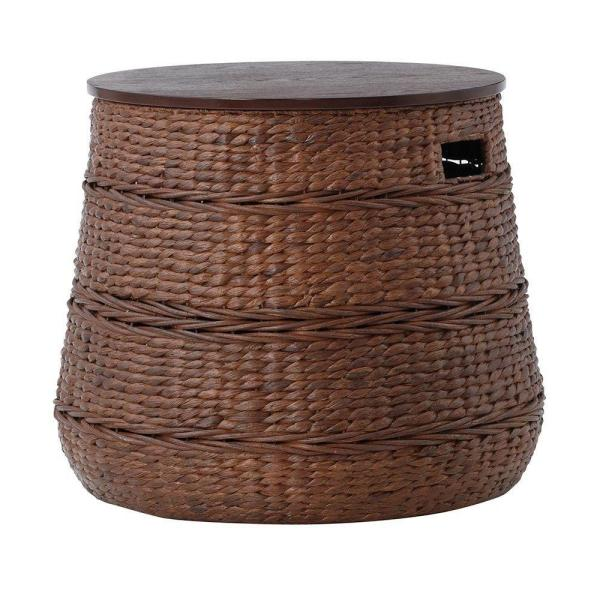 Home Decorators Collection Kerala Brown End Table 1944300820