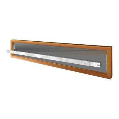 Removable 42 in. to 54 in. Adjustable Width 1-Bar Window Guard, White