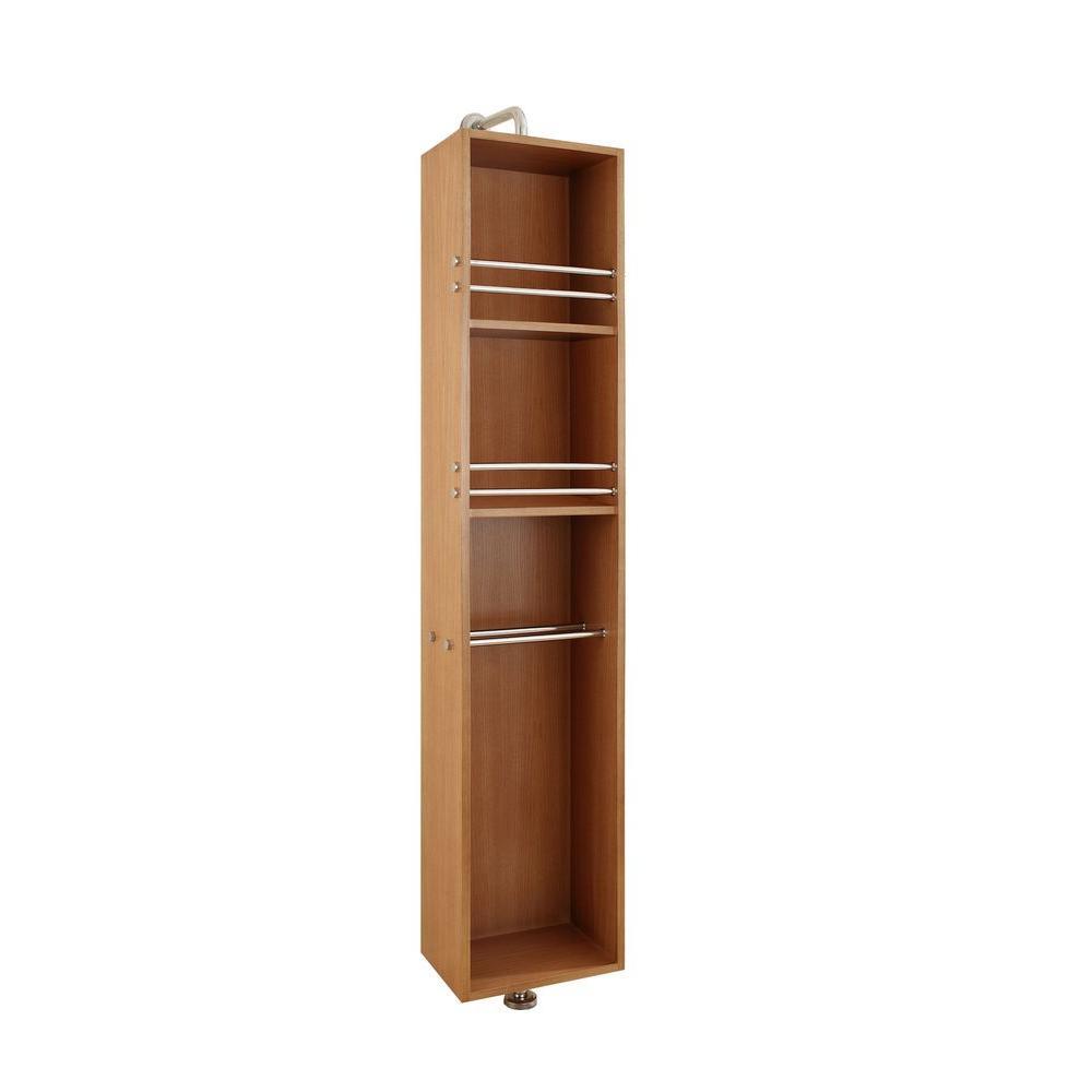 Virtu USA Marcel 13-6/8 in. W x 9-1/10 in. D x 66-7/8 in. H Bathroom Linen Storage Cabinet in Chestnut