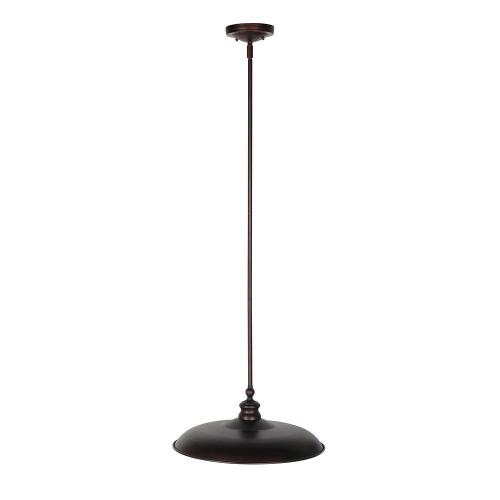 Kimball 1-Light Textured Coffee Bronze Indoor Pendant
