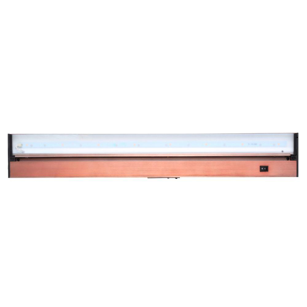 Juno Pro-Series 30 in. Brushed Bronze LED Under Cabinet Light with Dimming Capability