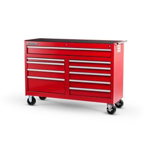 International Workshop Series 54 inch 10-Drawer Roller Cabinet Tool Chest in Red by International