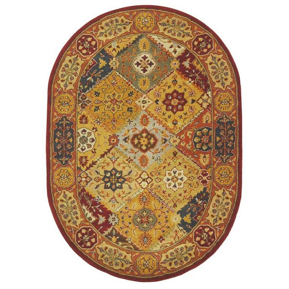 Safavieh Heritage Multi 4 ft. 6 in. x 6 ft. 6 in. Oval Area Rug