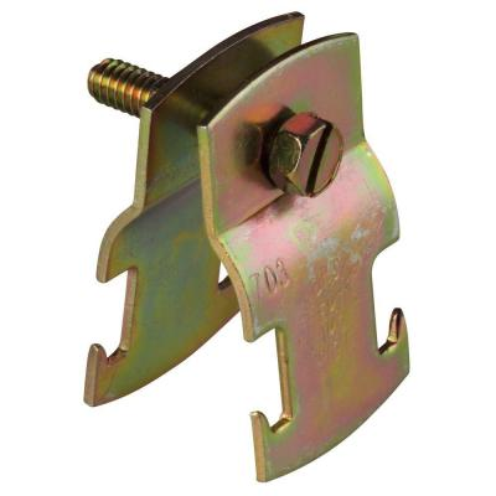 2 in. Universal Strut Pipe Clamp - Gold Galvanized