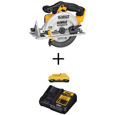 20-Volt MAX Li-Ion Cordless 6-1/2 in. Circular Saw (Tool-Only) w/20-Volt Max Li-Ion 4.0 Ah Battery & Charger Starter Kit