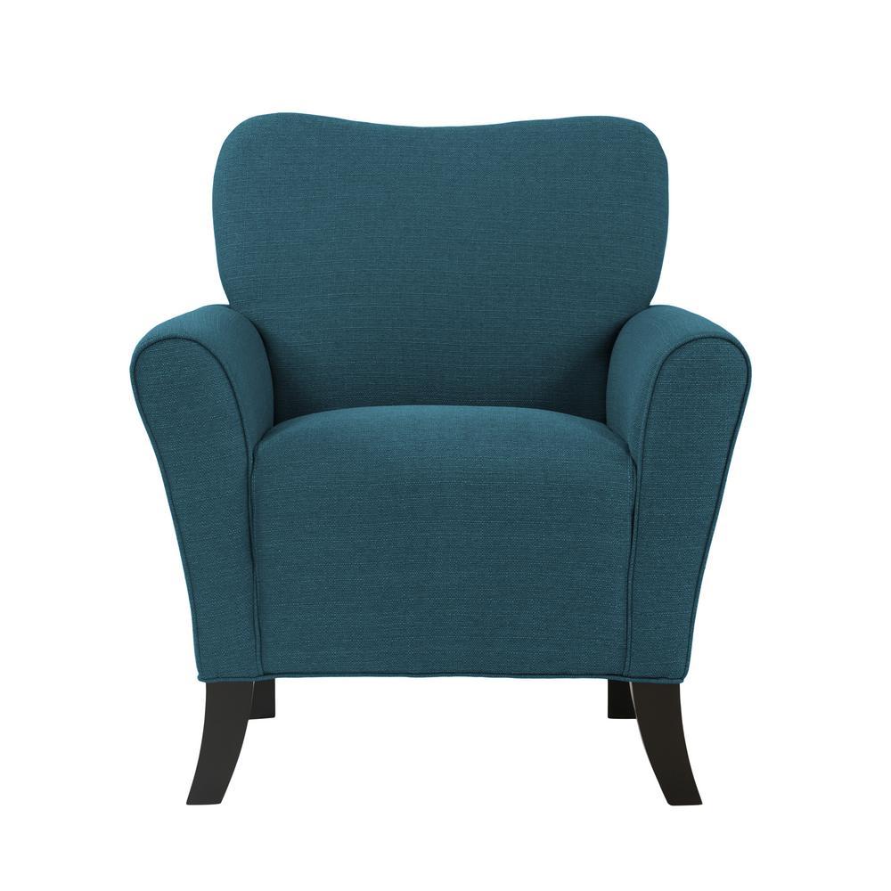 Sasha Caribbean Blue Linen Flared Arm Chair