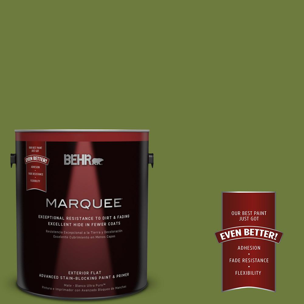 1 gal. #HDC-SM16-11 Hot Dog Relish Flat Exterior Paint