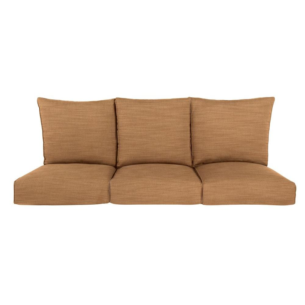 Brown Jordan Highland Replacement Outdoor Sofa Cushion in Toffee