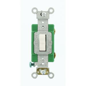 Leviton 30 amp industrial double pole switch white r62 03032 2ws 30 amp industrial grade heavy duty single pole toggle switch white sciox Gallery