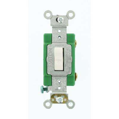 30 Amp Industrial Grade Heavy Duty Single-Pole Toggle Switch, White