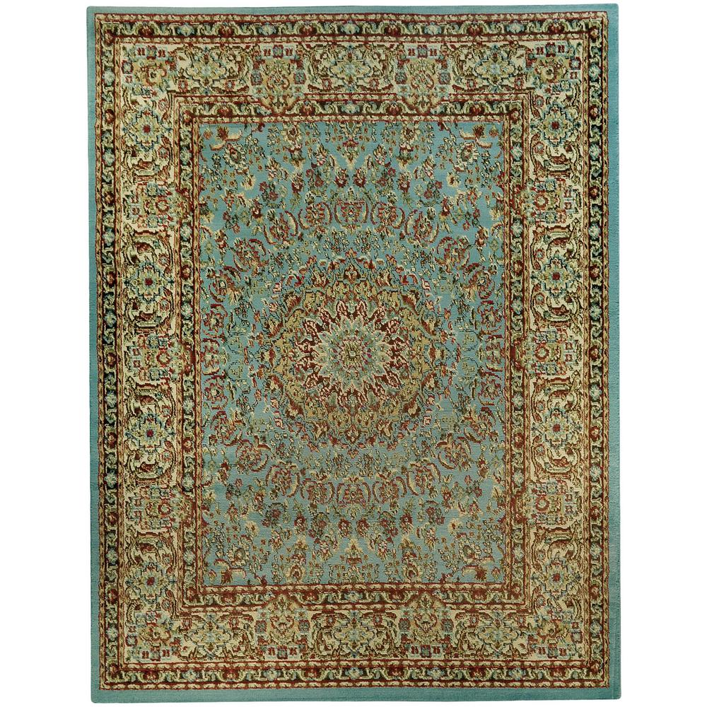 Maxy home pasha collection blue 3 ft 3 in x 5 ft area for Area933