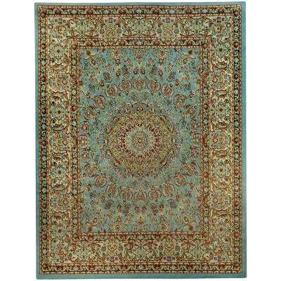 Pasha Collection Blue 7 ft. 10 in. x 9 ft. 10 in. Area Rug