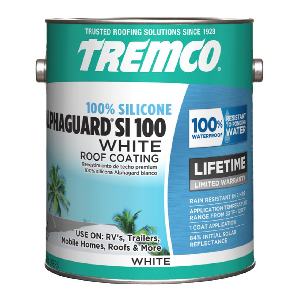 Tremco 0 9 Gal Alphaguard Si 100 Silicone Roof Coating