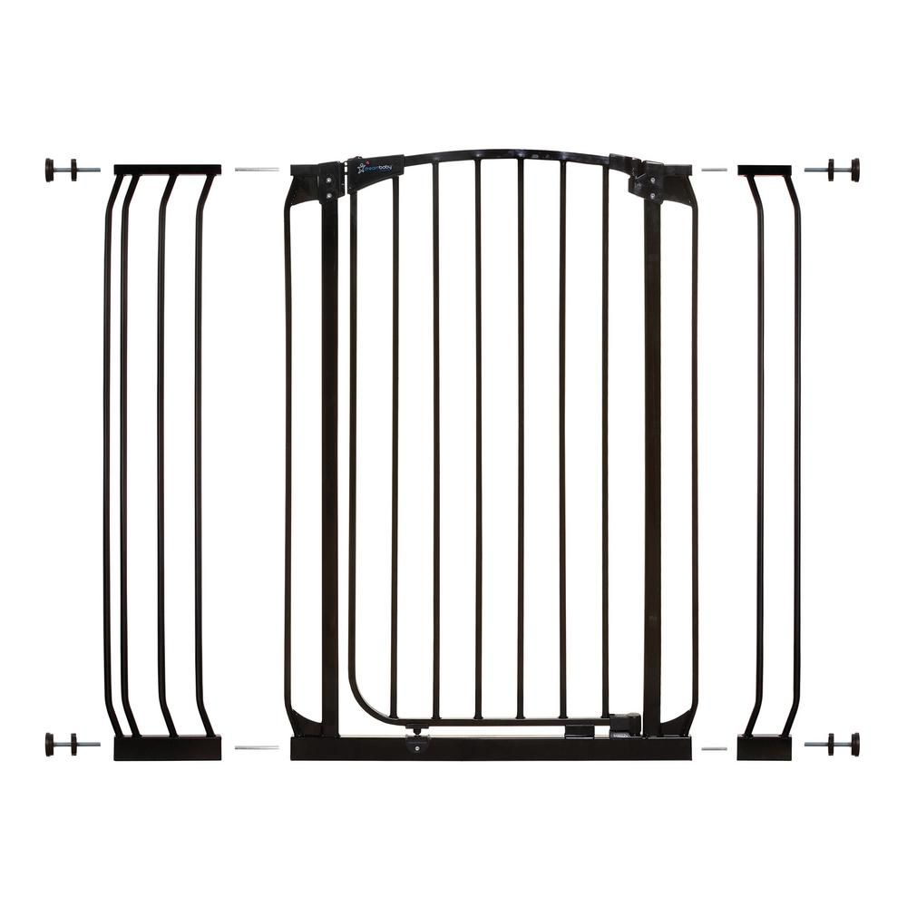 Dreambaby Chelsea 40 in. H Extra Tall Auto-Close Security Gate in Black with Extensions