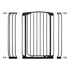 h extra tall autoclose security gate in black with extensions