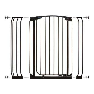 Chelsea 40 in. H Extra Tall Auto-Close Security Gate in Black with Extensions