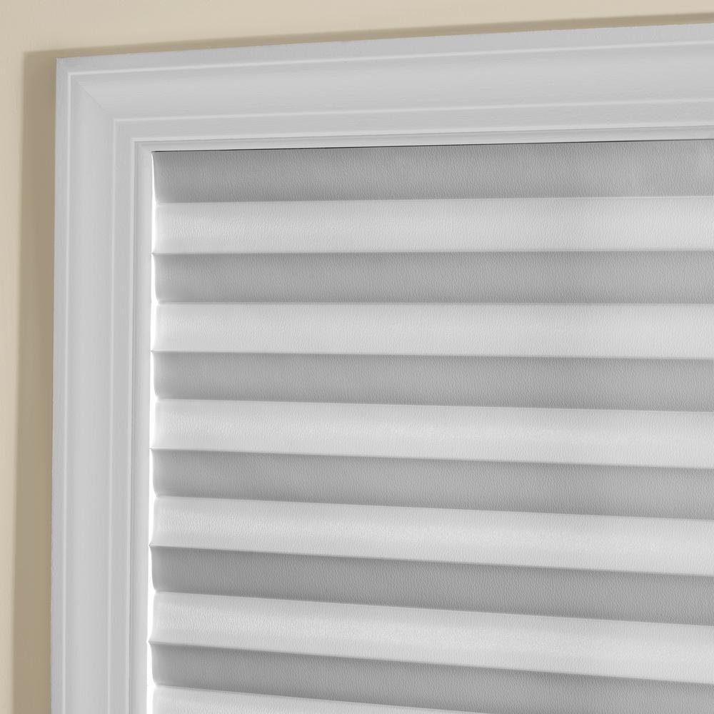 Achim 1 2 3 White Cordless Room Darkening Pleated Vinyl Window Shade 36 In W X 75 In L 123co36w24 The Home Depot