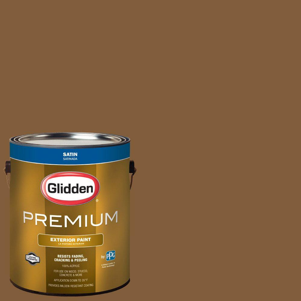 Hdgo65 Warm E Brown Satin Latex Exterior Paint