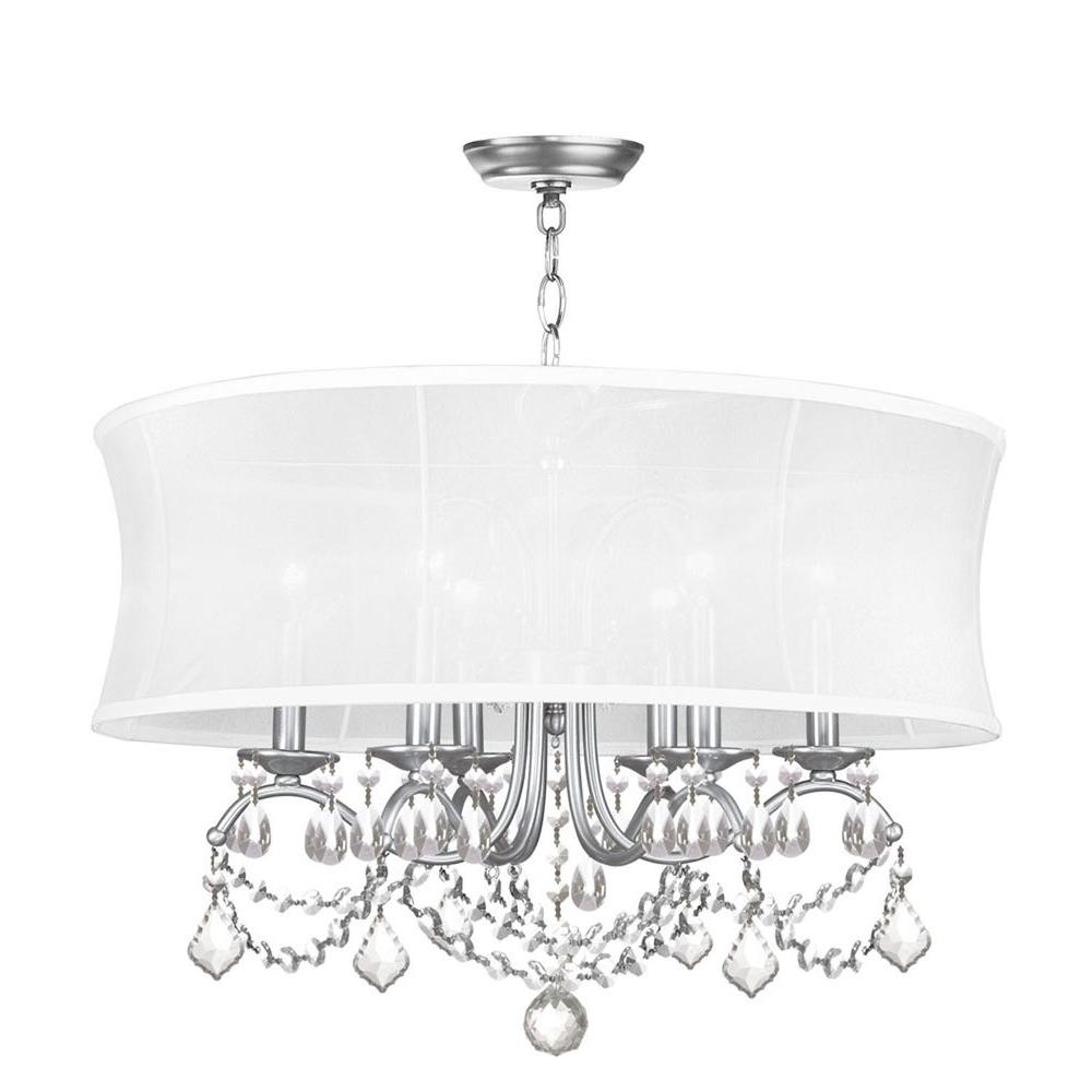 Providence 6-Light Brushed Nickel Incandescent Ceiling Chandelier