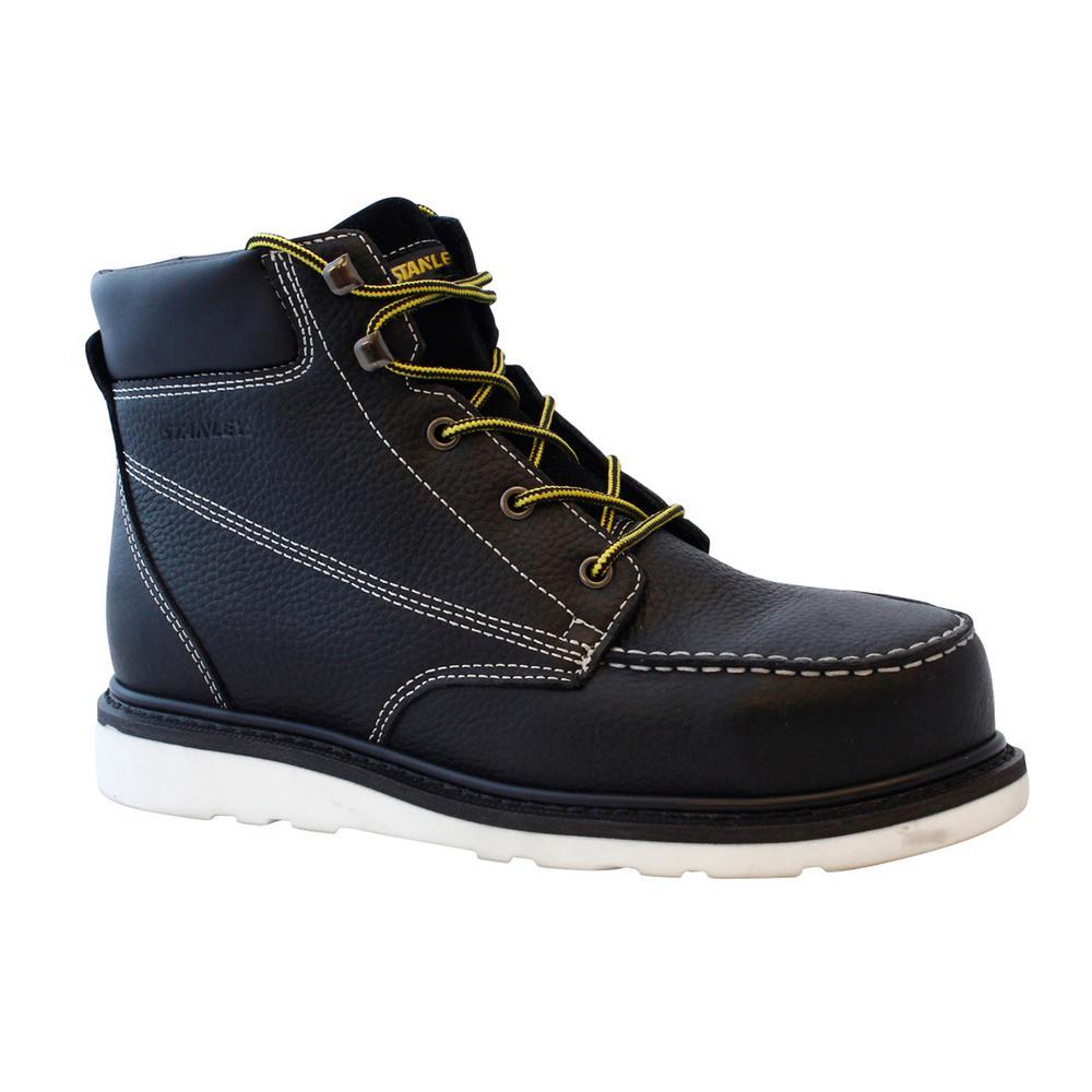 dd76b00594e Stanley Rocker Men's Size 9 Black Leather Composite Toe 6 in. Work Boot