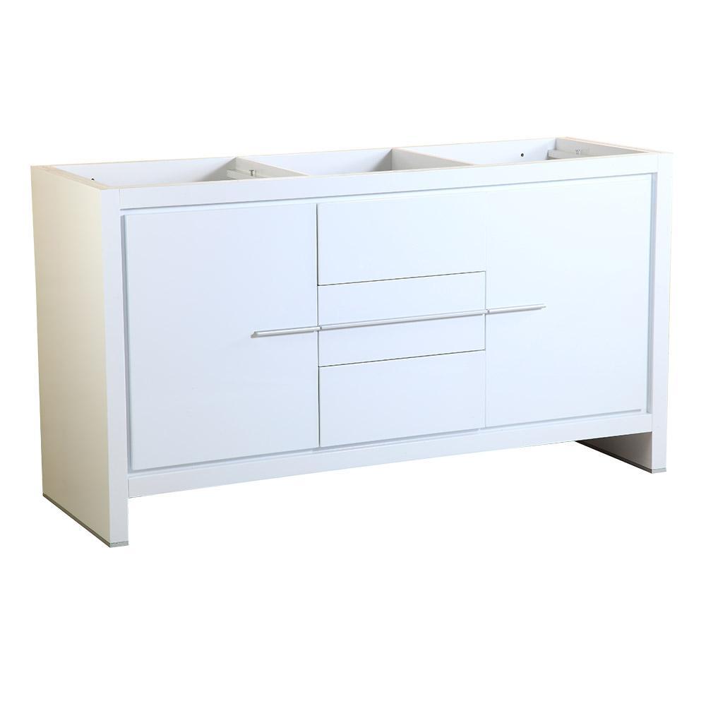 Fresca Allier 60 in. Modern Double Sink Bathroom Vanity Cabinet in White