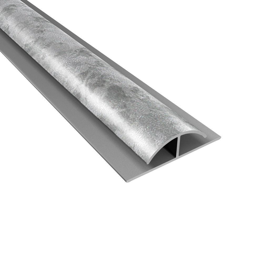 null 4 ft. Large Profile Divider Trim in Galvanized Steel