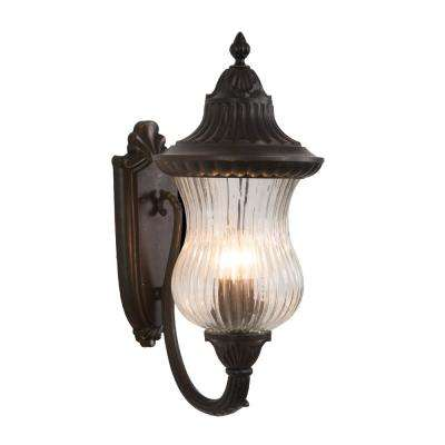 Matteo Collection 3-Light Oil-Rubbed Bronze Outdoor Wall Mount Lamp