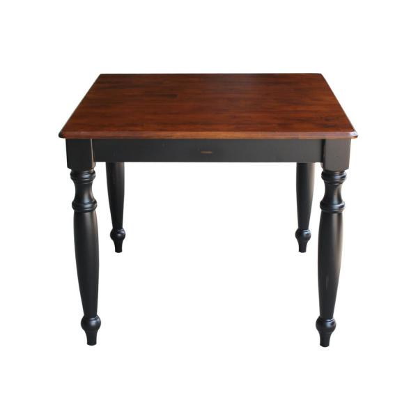 International Concepts Bridgeport Aged Black and Espresso Dining Table