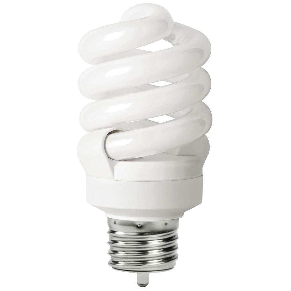 EcoSmart 60W Equivalent Soft White (2700K) Full Spiral CFL Light Bulb (2-Pack)