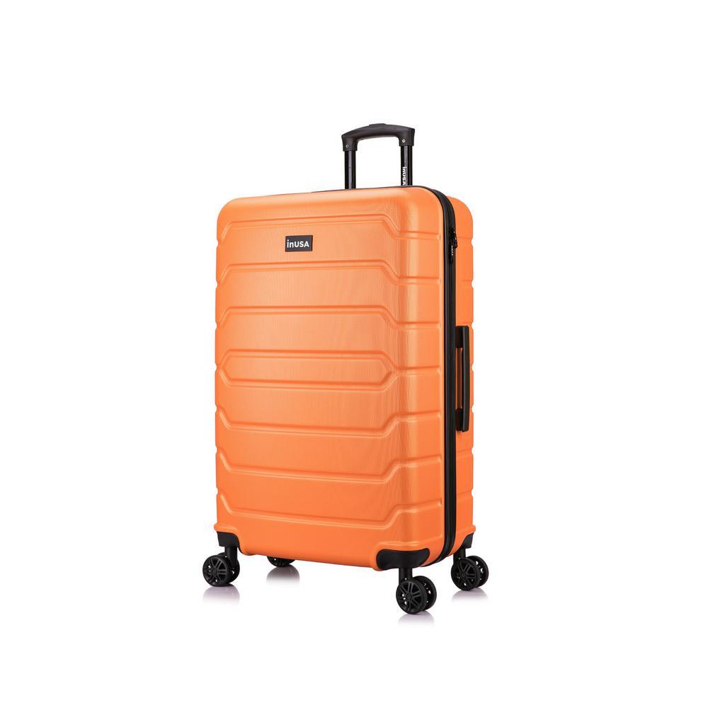 Trend 30 in. Orange Lightweight Hardside Spinner Suitcase