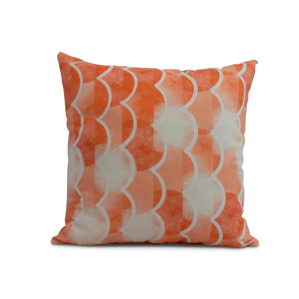 Orange Decorative Nautical Throw Pillow Pg1233o1 16 The Home Depot