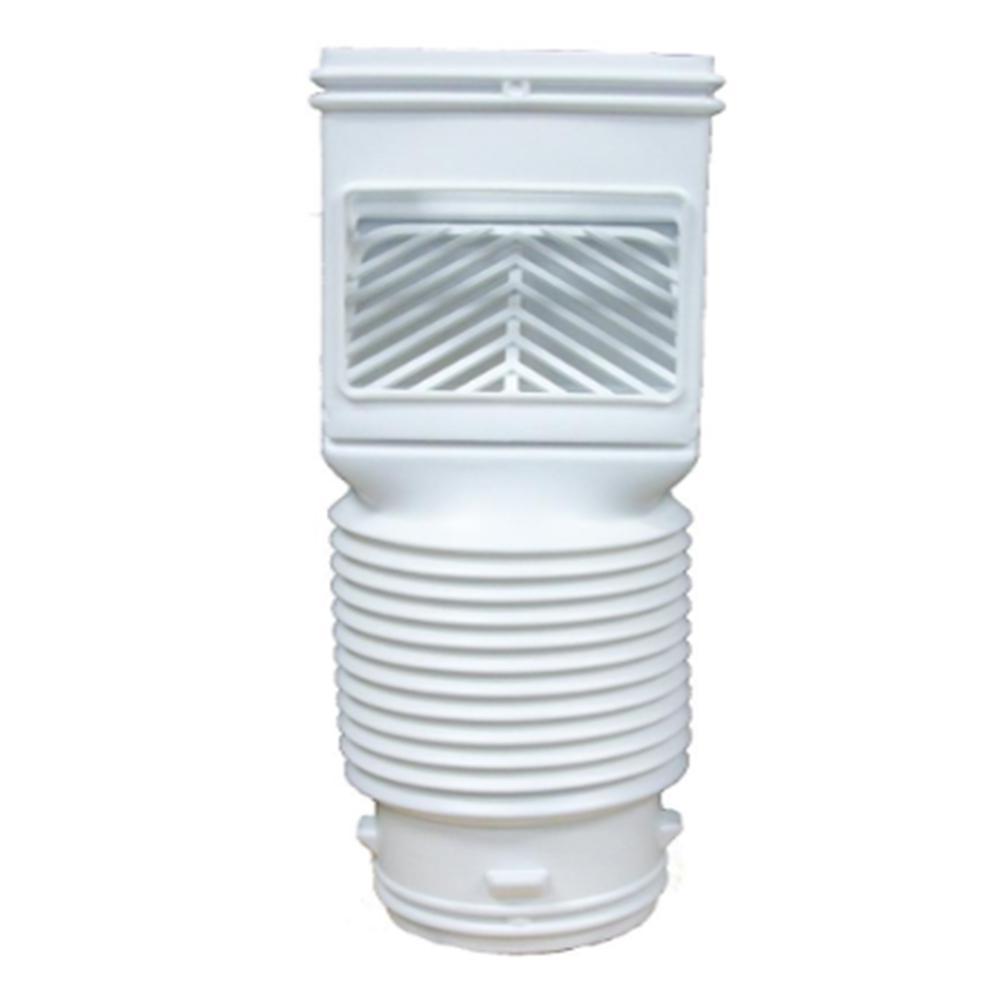 InvisaFlow Flex Grate White Downspout Filter
