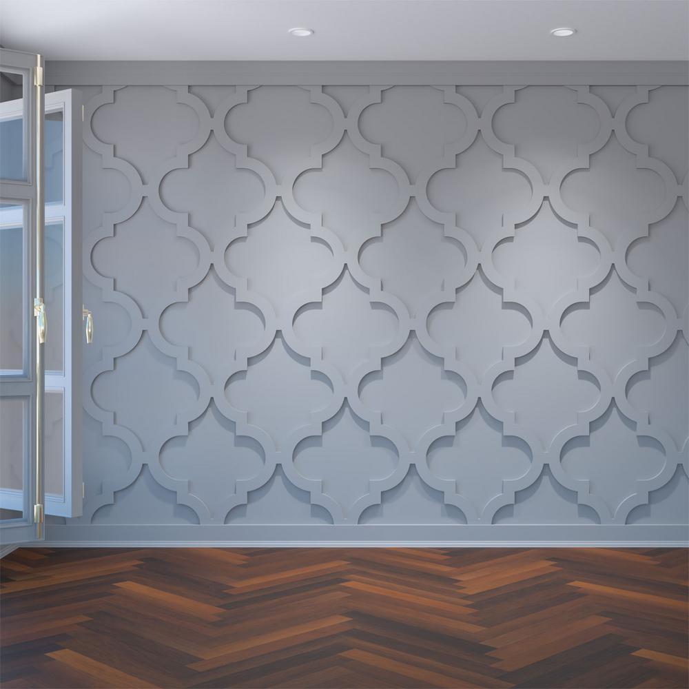"3/8"" x 23-3/8"" x 23-3/8"" Marrakesh Decorative Fretwork Wall Panels in Architectural Grade PVC"