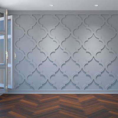 3/8 in. x 23-3/8 in. x 23-3/8 in. Large Marrakesh White Architectural Grade PVC Decorative Wall Panels