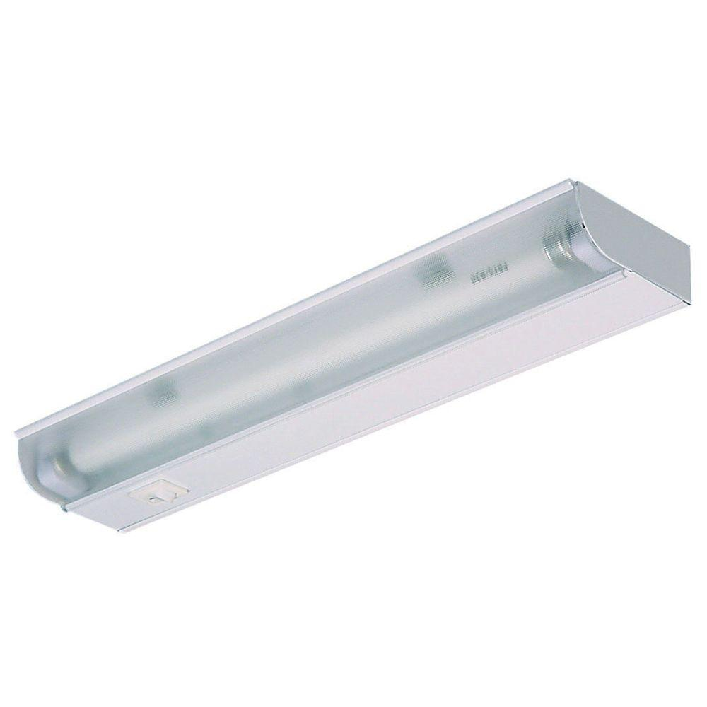 Juno 12 in white fluorescent under cabinet economy fixture ufl12 wh white fluorescent under cabinet economy fixture ufl12 wh the home depot aloadofball Images