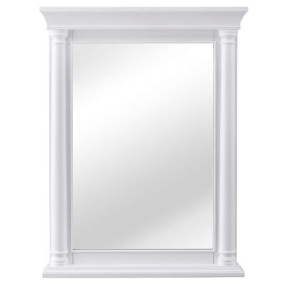 Strousse 24 in. W x 32 in. H Framed Wall Mirror in White
