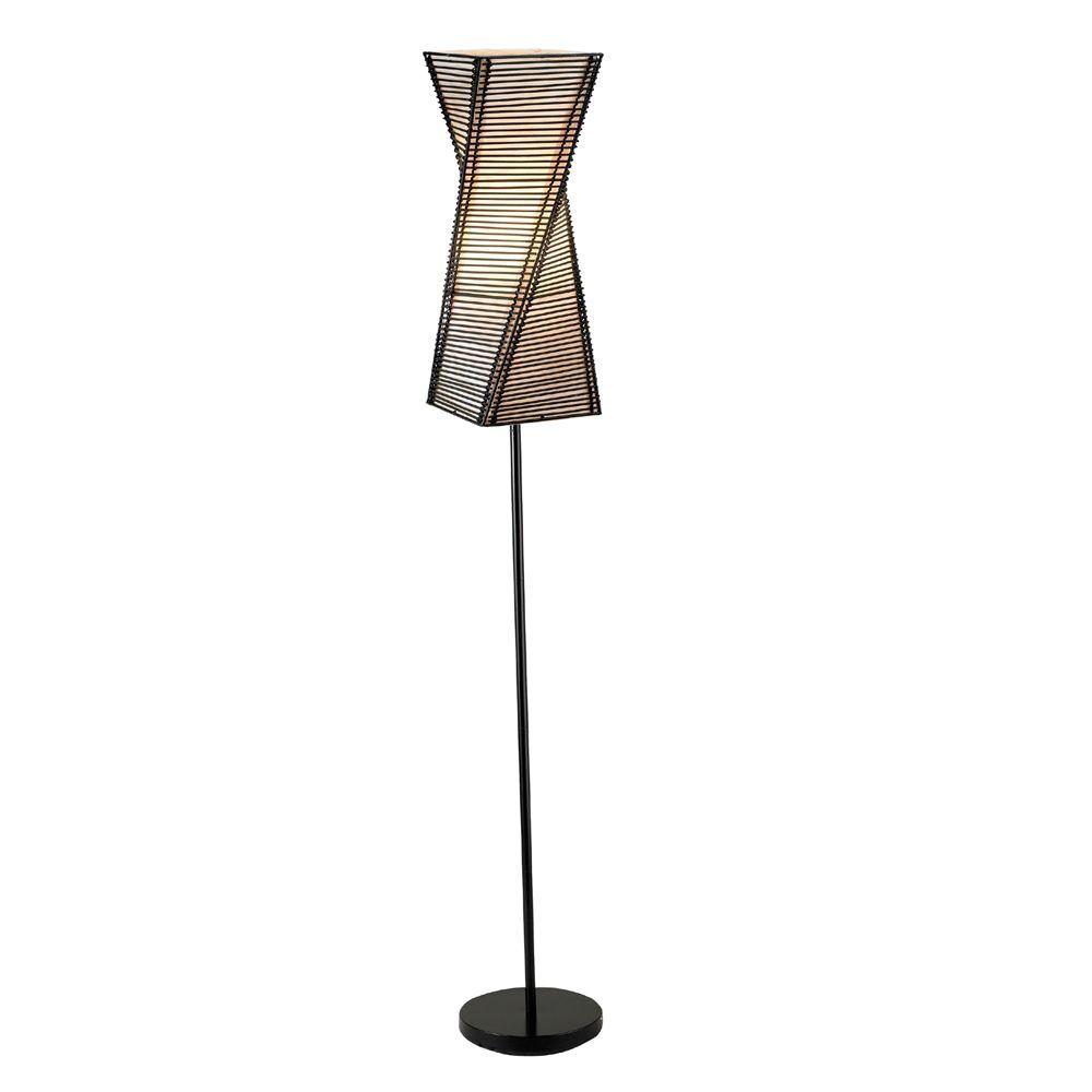 Stix 68 in. Black Floor Lamp