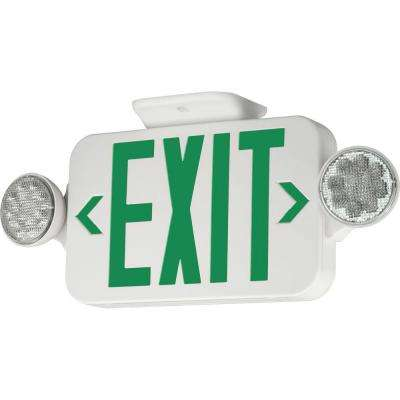 2-Light Thermoplastic LED Emergency Unit/Exit Combo Remote Capacity
