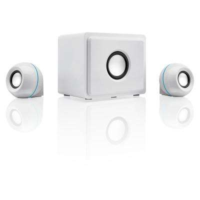 2.1-Channel Home Theater Speaker System , White