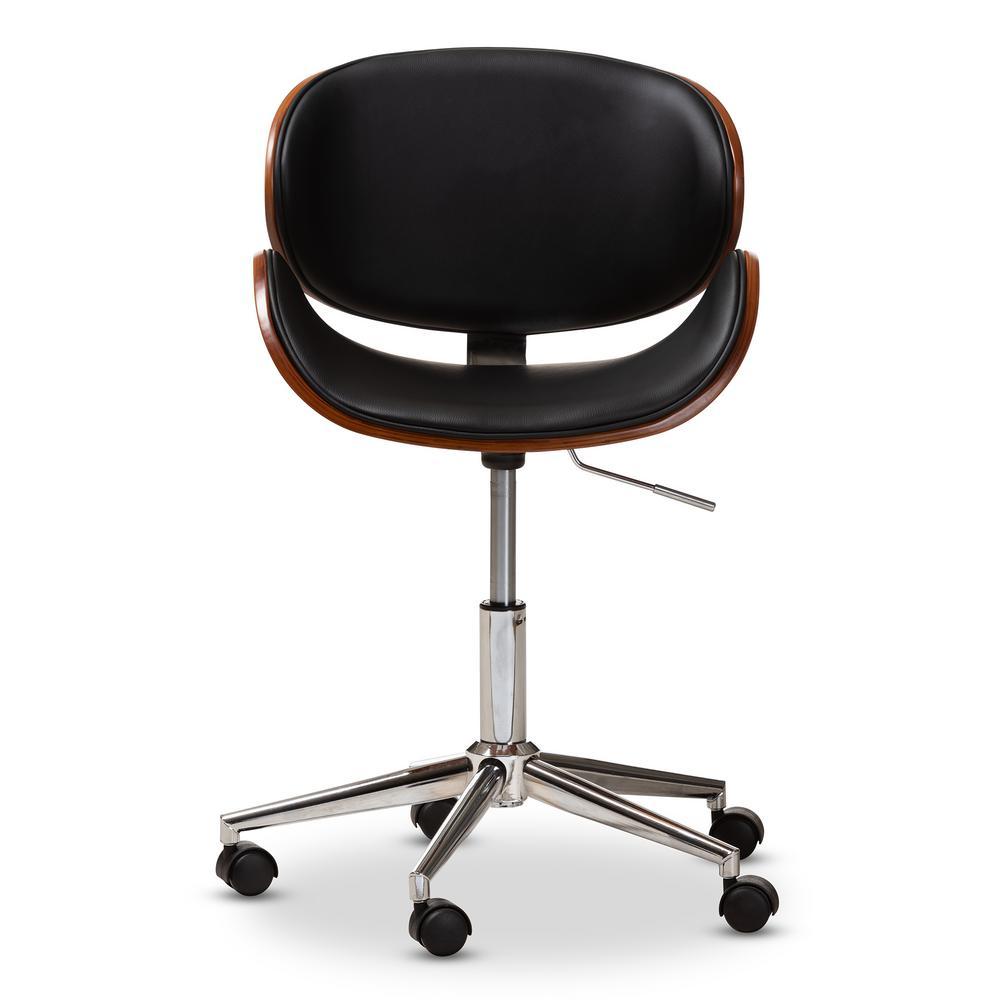 Baxton Studio Ambrosio Black Faux Leather Office Chair