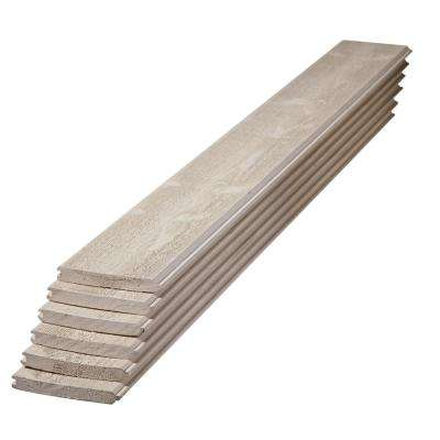 1 in. x 6 in. x 4 ft. Premium Primed Gray Spruce Tongue and Groove Board (6-Pack)