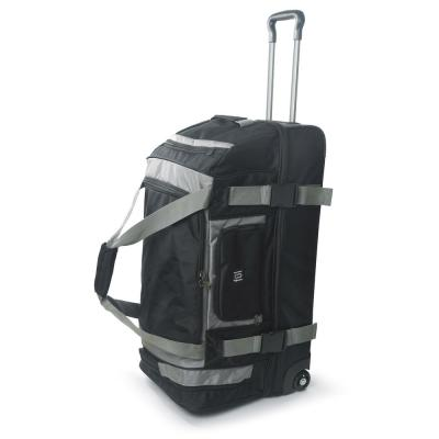 Rig 30 in. Black Rolling Duffel Bag