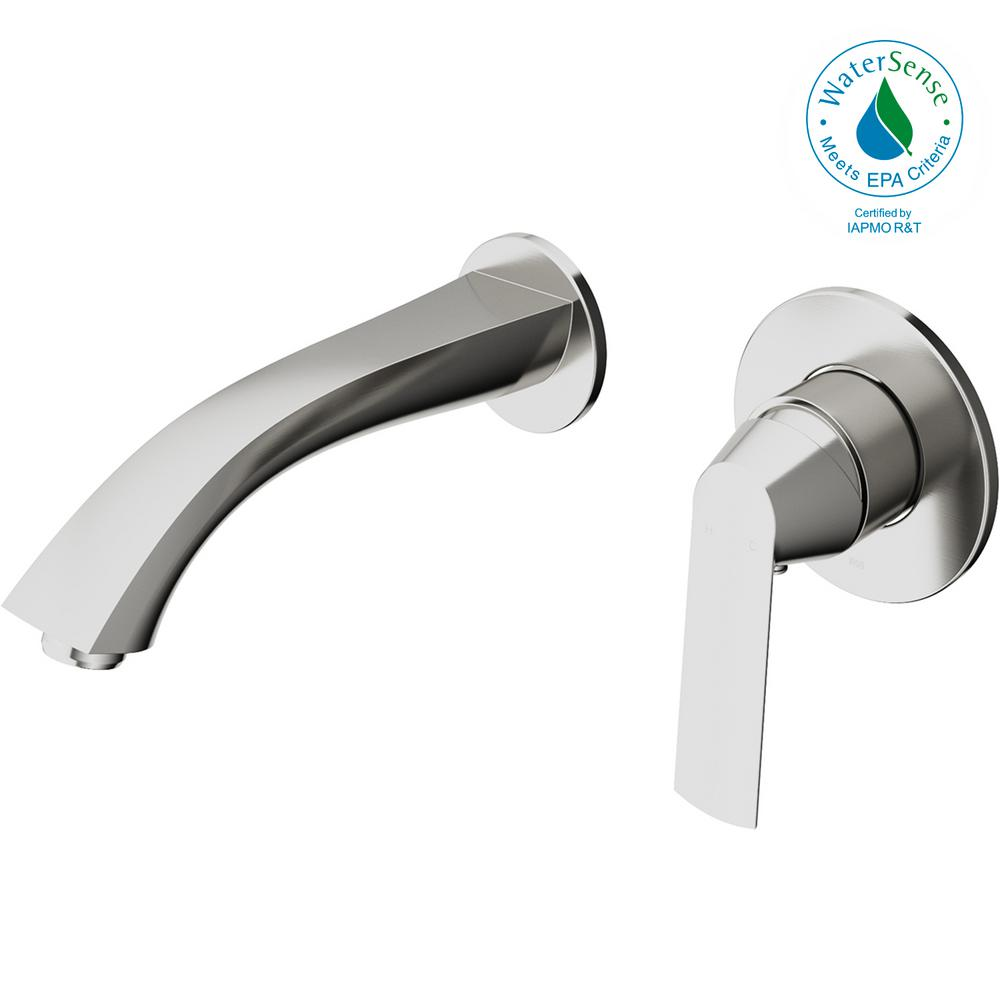 VIGO Aldous Single-Handle Wall Mount Bathroom Faucet in Brushed Nickel