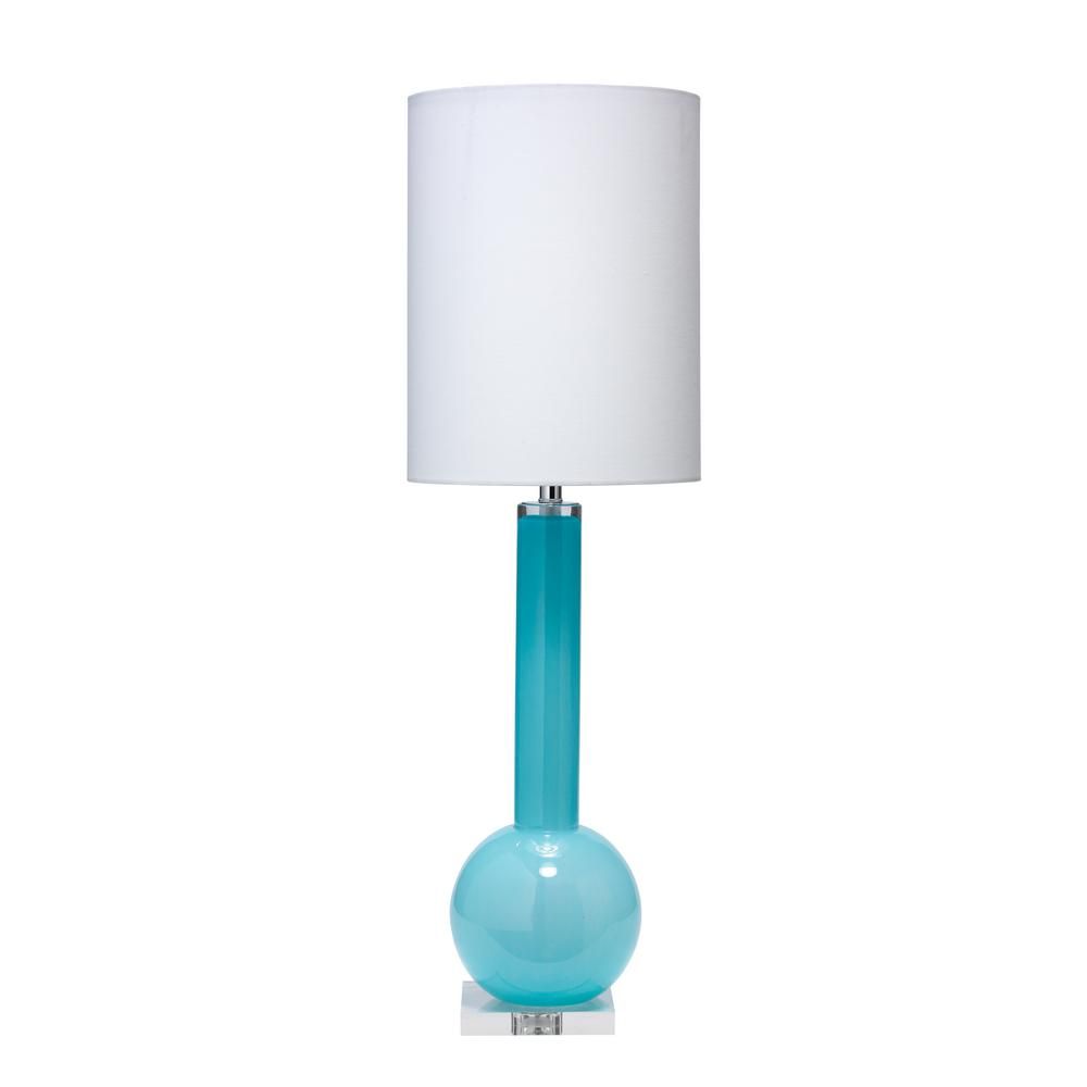 325 in blue studio table lamp with tall thin drum shade blue studio table lamp with tall thin drum shade geotapseo Gallery