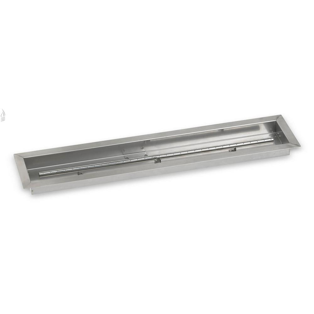 American Fire Glass 36 in. x 6 in. Stainless Steel Linear Drop-In - American Fire Glass 36 In. X 6 In. Stainless Steel Linear Drop-In