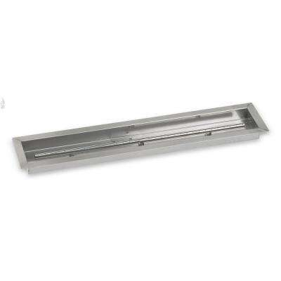 36 in. x 6 in. Stainless Steel Linear Drop-In Fire Pit Pan (T-Burner Included)